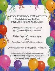 Art Quest art show and sale