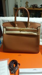 Hermes birkin 35 Gold Togo with receipt